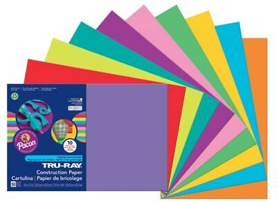 Tru-Ray® Construction Paper 50 Recycled Assorted Colors 12 x 18 Pack Of 5