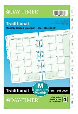 Day-Timer Classic Monthly Refill Desk Size 5-5 x 8-5 Jan-Dec 2020