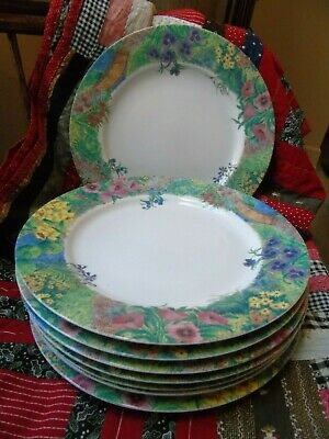 Nikko Fine China 8 DINNER PLATES Secret Garden  Patra Thailand  Discontinued