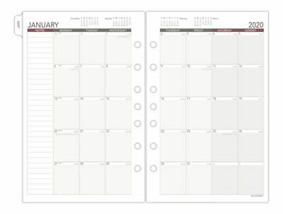 AT-A-GLANCE Day Runner Monthly Planner Refill Ruled Blocks 5-5x8-5 Jan-Dec 2020
