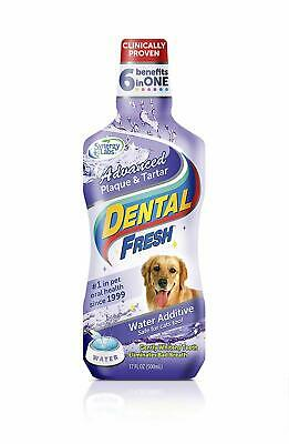 Dental Fresh Water Additive - Advanced Plaque and Tartar Formula for Dogs - Clin
