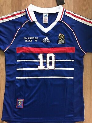 France 1998 ZIDANE  10 World Cup 98 Jersey Size Medium-