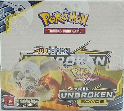 POKEMON TCG SUN - MOON UNBROKEN BONDS BOOSTER SEALED BOX