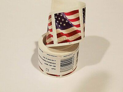 USPS Forever Flag Stamps Stamp Design May Vary Roll of 100 sealed
