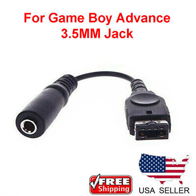 3-5MM Headphone Earphone Jack Adapter Cord Cable For Gameboy Advance GBA-SP A202