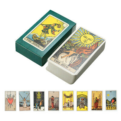 Tarot Cards Deck Vintage Antique High Quality Colorful Card Box Game 78 Card