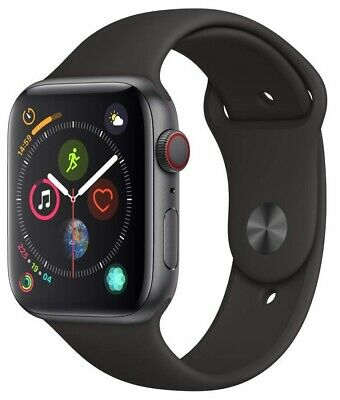 Apple Watch Series 4 44 mm Space Gray Case with Black Sport Band GPS - Cellular