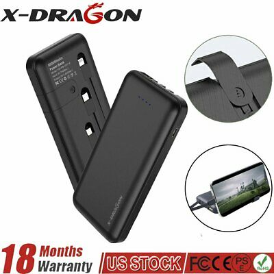 External Battery Charger 500000mAh Portable Power Bank Built-in 3 USB For Phone