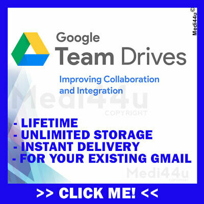 Unlimited Google Team Drives For Existing Google Drive Account Lifetime