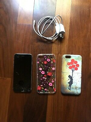 Apple iPhone 6s-64GB-Space Gray-Cracked screen Fully functional AT-T New Battery