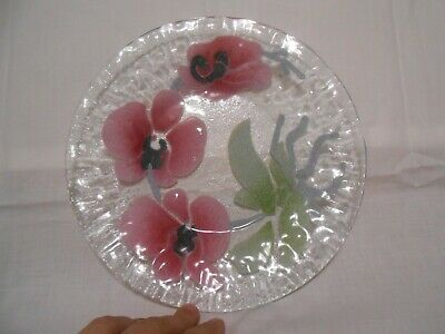 SYDENSTRICKER Glass Plates Orchid Floral