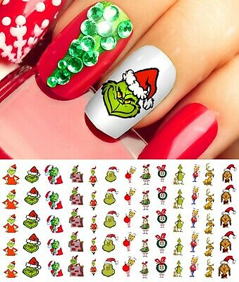 The Grinch Who Stole Christmas Nail Art Waterslide Decals - Salon Quality
