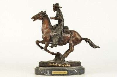 TROOPER OF THE PLAINS Bronze Sculpture by Frederic Remington 9-5 x 10