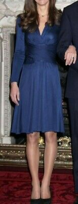Oasis blue fit and flare dress - Kate Middleton style - size medium