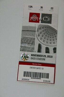 ohio state vs penn state football tickets Sec 13A  Row 34 and 35 seat 22 22