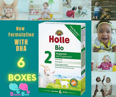 7 Boxes Holle Goat Milk Stage 2 Organic New Formula W DHA Germany  Exp 72022-