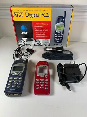 Nokia 5165 Classic GSM AT-T Brick Bar Cell Phone -Extra CaseChargersHeadset