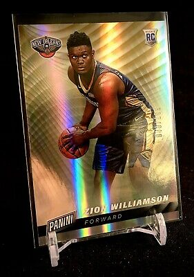 ZION WILLIAMSON 2019 Panini Cyber Monday Silver Wave Rookie Card 43199