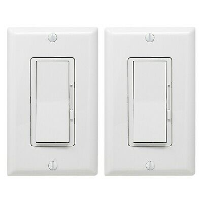 2-Pack Dimmer Light Switch- Single Pole or 3-Way for LED Incandescent CFL