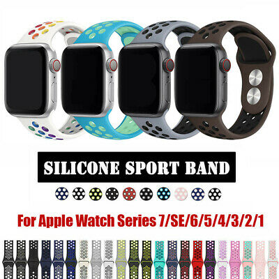 For NK- Apple Watch Series 1 2 3 4 5 Silicone Sport iWatch Band Strap