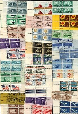US Stamps 30 different Vintage 4c Plate Blocks  Mint og NH FREE SHIPPING