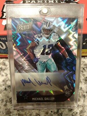 2018 Panini Black Friday Michael Gallup RC Auto Cowboys
