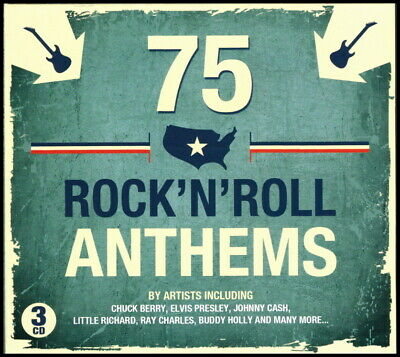 74 Greatest Hits of ROCK - ROLL  New 3-CD Boxset  All Orig 50s - 60s Hits