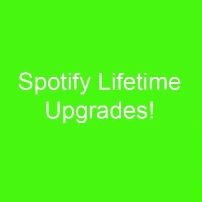Spotify Premium Upgrade  LIFETIME  Any Account  Any Device  1 Year Warranty