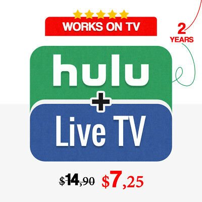 Hulu - Live TV  2 YEARS  No Ads  FAST Delivery - Warranty