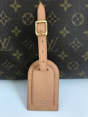 100 AUTHENTIC LOUIS VUITTON LARGE LUGGAGE NAME - ID TAG  NEW MADE IN FRANCE