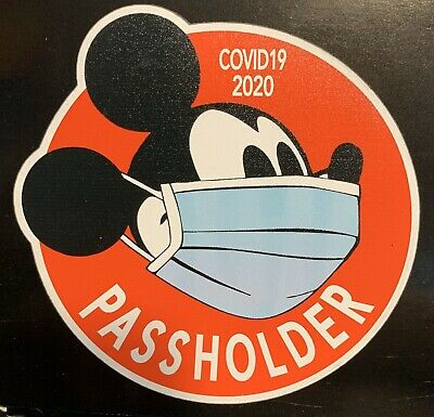 Disney Passholder Mickey Mouse Magnet-  Temporary Closing 2020