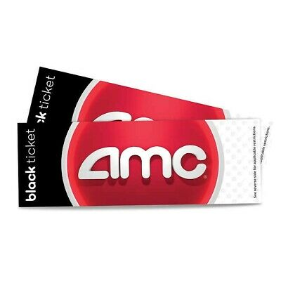 AMC Theaters 1 Black Movie Ticket No Expiration Email Delivery PIN included
