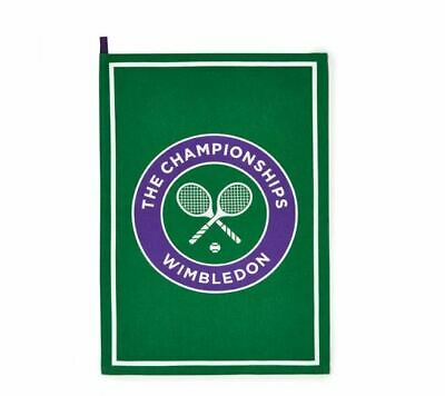 WIMBLEDON THE CHAMPIONSHIP OFFICIAL GREEN LOGO TEA TOWEL BRAND NEW