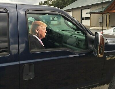 Trump car sticker life size adhesive back passenger side window MADE IN USA