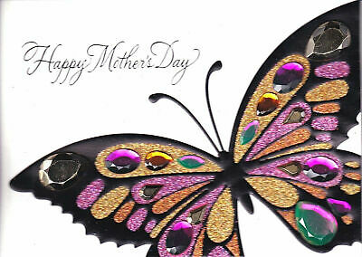 Gorgeous Papyrus Mothers Day card Rhinestone Gem Butterfly -  Beautiful Day