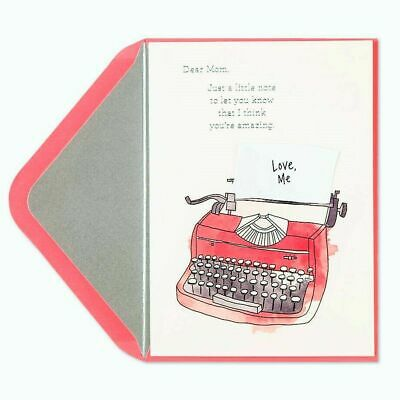 Papyrus Mothers Day card I think youre amazing note from vintage Typewriter