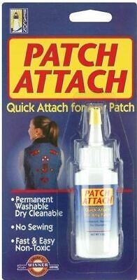 Patch Attach Fabric Adhesive Glue Washable Permanent No sewing - 1 oz