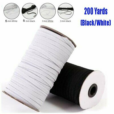 200 Yards 180m Length DIY Braided Elastic Band Cord Knit Sewing 18 15