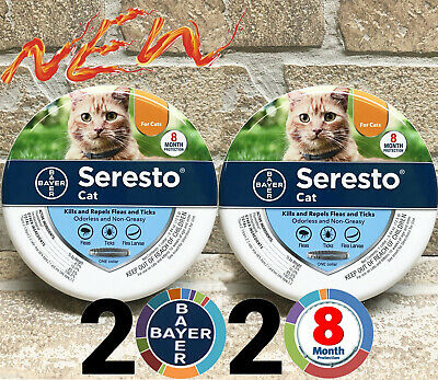 Bayer Seresto Flea and Tick Collar For Cat All Weigh Protection Free Ship 2 Pack