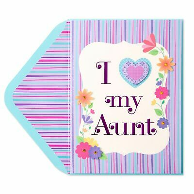 Papyrus Mothers Day Card  I love my Aunt - lucky to have amazing aunt