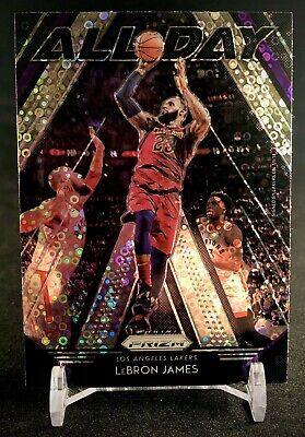 LeBron James 2018-19 Prizm Fast Break All Day Insert Cavaliers Lakers