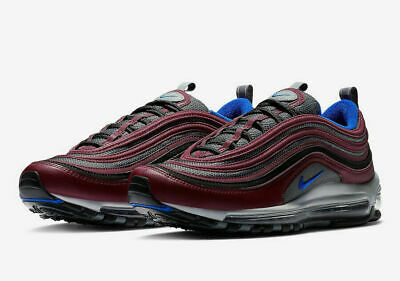Mens Nike AIR MAX 97 NIGHT MAROON Cool GreyRacer Blue 921826-012