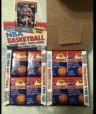 NBA WAX PACK LOT 1 PACKS FROM 1980-1995  RARE GREAT DEAL READ 500 -SOLD