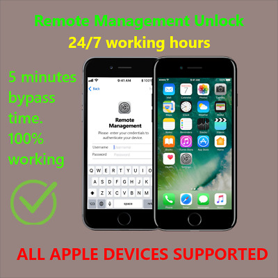 Apple MDM Bypass  Remote Management  iPhone  iPad  iPod All ios 13-5-1