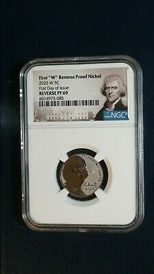 2020 W REVERSE PROOF NICKEL NGC RP69 FIRST DAY ISSUE 5C COIN BUY IT NOW!