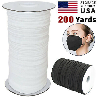 18 14 Inch Width Elastic Band Sewing Black White Flat DIY Face Mask 100 Yards