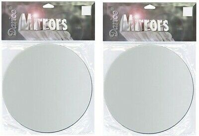 Lot of 2  Glass Mirror Round 4 inch Craft and Home Decor