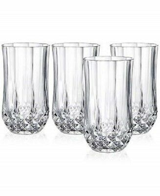 Longchamp Crystal Glass Set of 4 Luxury Glassware 12oz Made in France
