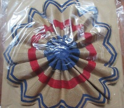2 POTTERY BARN FOURTH OF JULY 16 LIBERTY OUTDOOR BURLAP STAR NEW IN PACKAGE