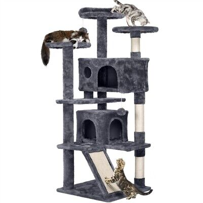 54 Cat Tree Tower Condo Furniture Scratching Scratch Pet Kitty Play House